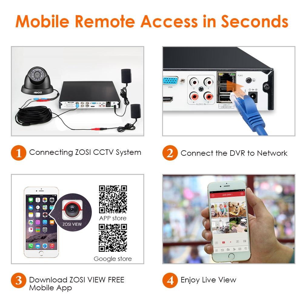 Enregistreur DVR avec système de sécurité vidéo ZOSI 8 canaux - Sécurité et protection - Photo 5
