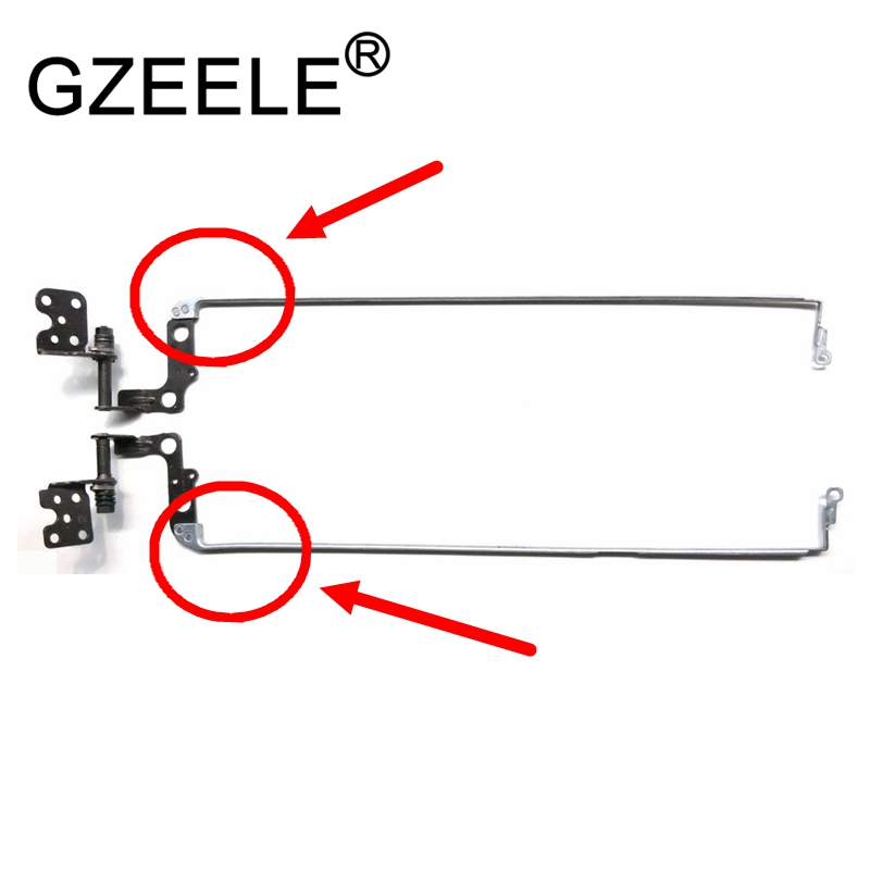 GZEELE NEW For Toshiba Satellite L50 L55 L50-B L55-B L55D-B L55T-B LCD Screen Hinge Laptop Hinges For Non-touch