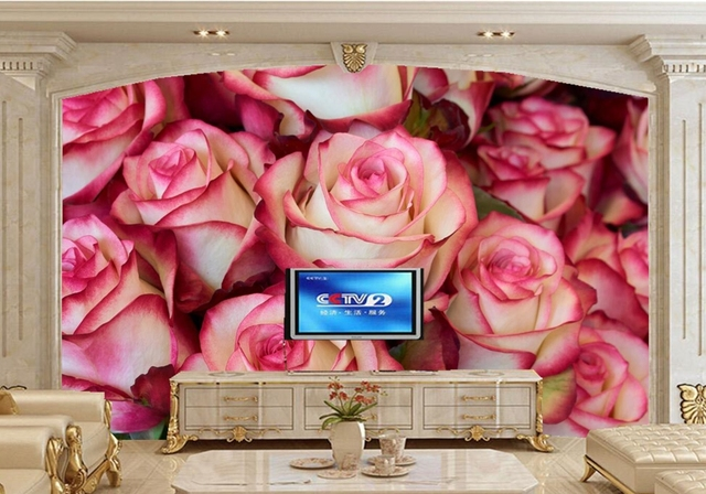 Custom 3d Mural, Roses Closeup Flowers Wallpapers,living Room Tv Wall  Kitchen Bedroom Restaurant Part 77