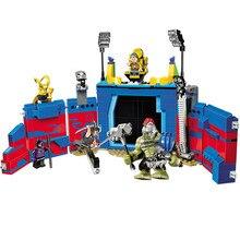 516pcs Super Heroe Thor vs. Hulk Arena Clash Ragnarok Guard Stage 10749 Model Building Block Toys Brick Compatible With Legoing стоимость
