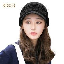 FANCET mujeres invierno alcanzó tejidos sólido caliente de lana suave ala sombrero  Gorros Casual 2019 tapa 7991b510d36