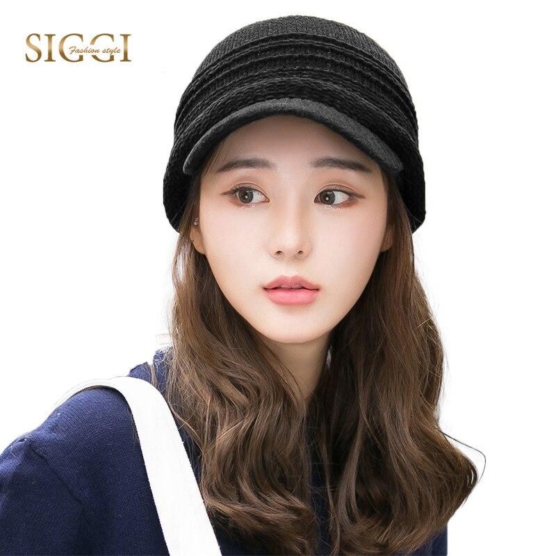 FANCET Women Winter Peaked Knitted   Skullies     Beanies   Warm Solid Soft Fleece Brim Bonnet Gorros Casual 2019 Cap Hat 89265