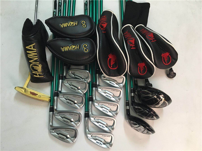Honma Tour World TW737 Golf Clubs Full Set Driver + Fairway Woods + Irons + Putter R/S Flex Graphite Shaft With Head Cover