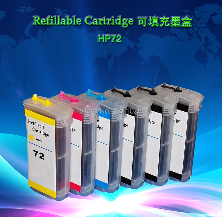 8 PCS 130ml Empty Refillable ink cartridge WITH CHIP, ink refill kit for HP70 suitable  for Designjet Z2100 Z5200 refillable color ink jet cartridge for brother printers dcp j125 mfc j265w 100ml