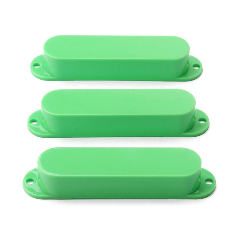 1 Set Of 3Pcs Green Sealed Closed Single Coil Pickup Covers For Electric Guitar Pickup Lid/Shell/Top