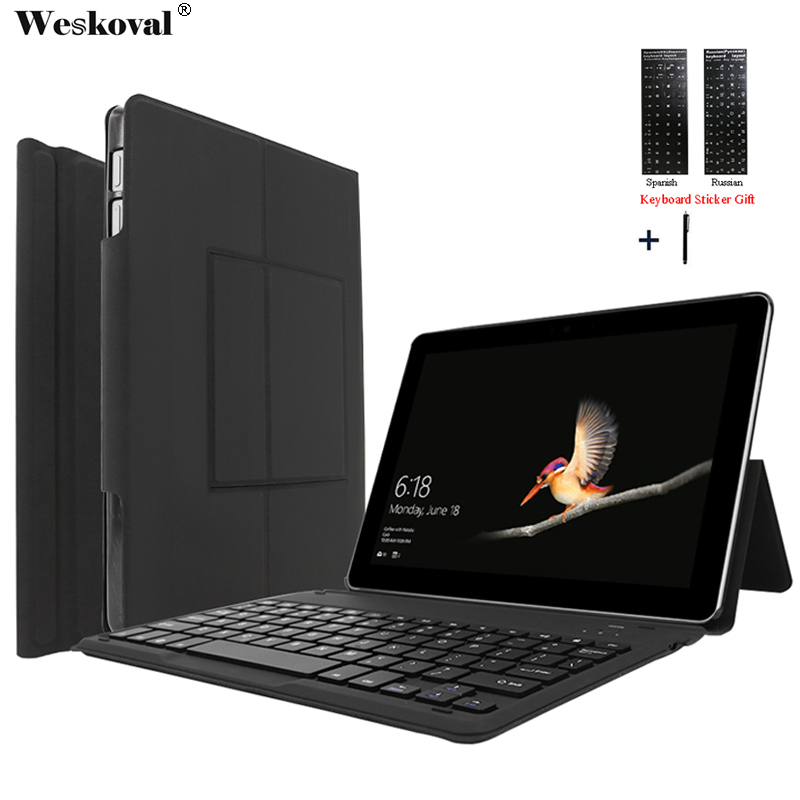 For Microsoft Surface Go 10.0 Wireless Bluetooth Keyboard Case For Microsoft Surface Go 10' Tablet Flip Stand Cover Capa +Stylus 9 10 tablet universal wireless bluetooth keyboard case for asus lenovo huawie 9 10 tablet flip leather stand cover stylus