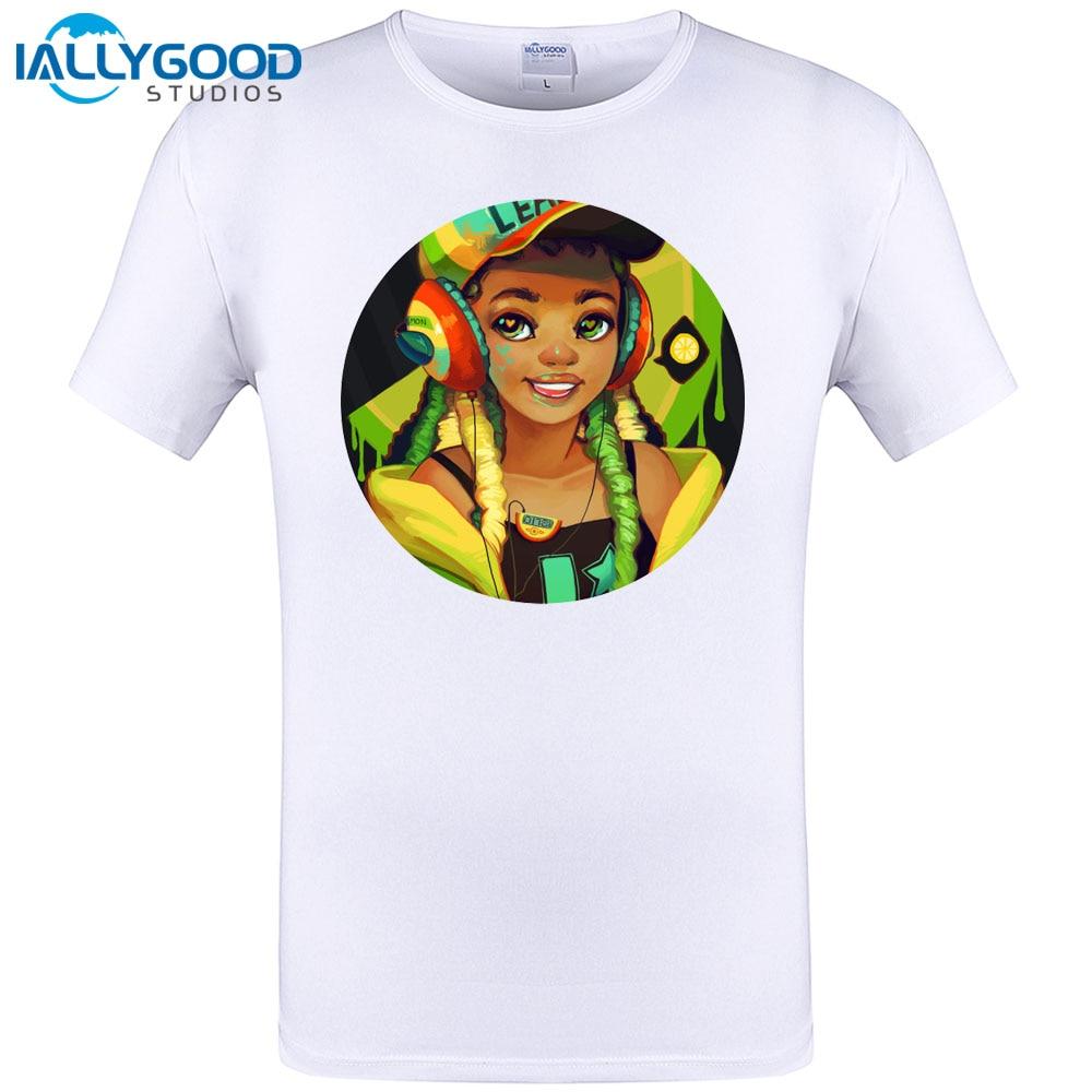 DJ Girl LemonLime Music Design New Summer Mens T shirt Short Sleeve O-neck Fashion Men T Shirt Funny Tops Tee Plus Size S-6XL