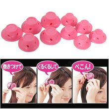 Get more info on the 10pcs/set Mushroom Hairstyle Roller DIY Silicone Women Sleeping Bell Curler Girl Hair Rollers Beauty Hair Care Styling Tools hot