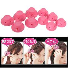 10pcs/set Mushroom Hairstyle Roller DIY Silicone Women Sleeping Bell Curler Girl Hair Rollers Beauty Hair Care Styling Tools hot(China)