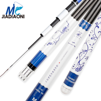 JIADIAONI 5.4 9m 19 Tune Long Fishing Rod Carbon Fiber SuperHand Pole Fly Fishing Pole Fishing Tackle