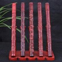 Bronzeado esculpida sândalo vermelho incenso incenso de sândalo Vermelho tubo barril Dragão jogar aberto rico em relevo frisado deitado incenso
