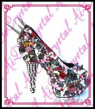Aidocrystal Damen modische alexandra serie bling bling kristall hohe schuhe strass plattform partei schuhe
