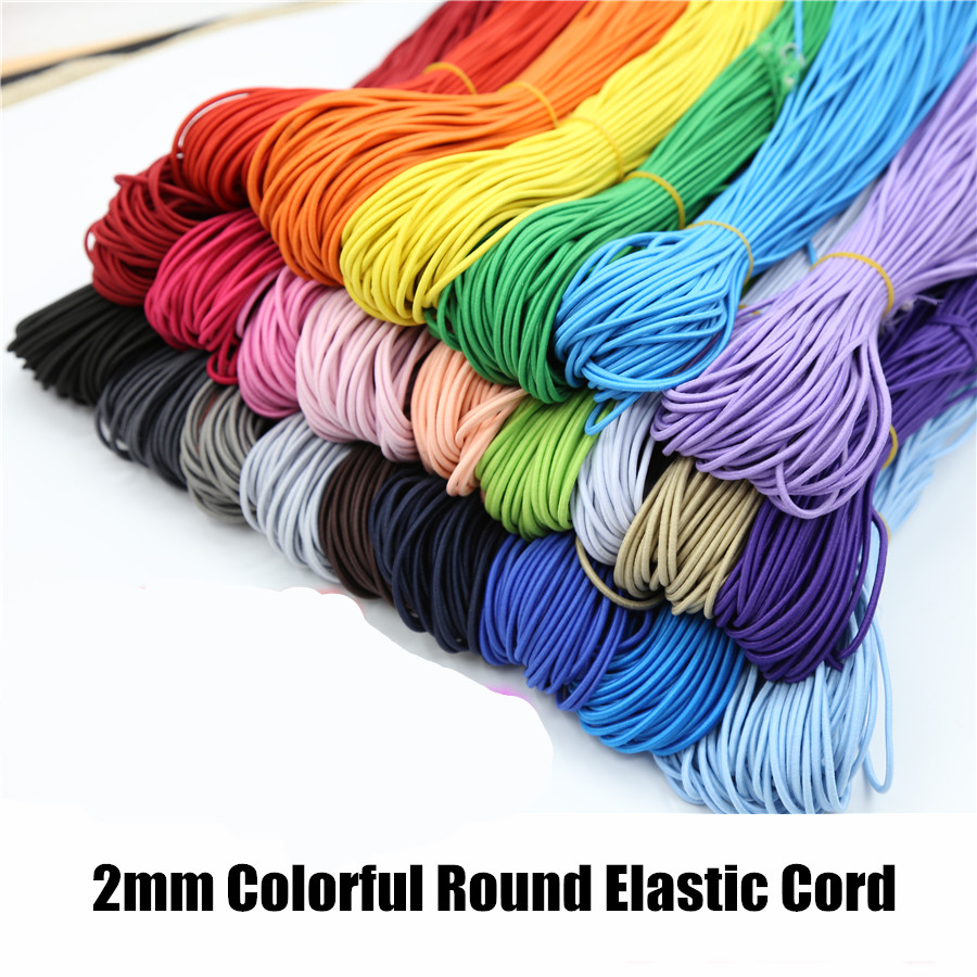 Colors Choice Round <font><b>Elastic</b></font> <font><b>Cord</b></font> About <font><b>2mm</b></font> For Diy Jewelry Bracelet Making Supplies image