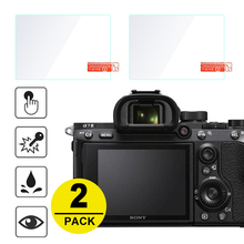 2x Tempered Glass Screen Protector for Sony A7 II III A7S A7R IV A99 A9 A6300 A6000 A5000 A6400 RX100 NEX-7 6 5 3N A33 A35 A55 cheap NoEnName_Null DEJ-2GSP-A7III To Fit A7III Camera