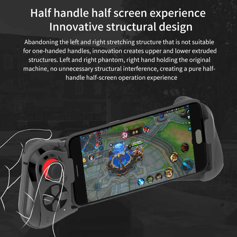 Mocute 050 update 058 Wireless Bluetooth Gamepad PUBG Gaming Controller  Telescopic Joystick VR Remote Control for Android Phone