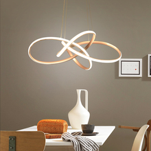 Aluminum hanging lamp Modern Led Pendant Lights For bedroom Dining room kitchen Champagne gold Pendant Lamp nordic lamp modern aluminum iron metal pendant lights gold silver black white nordic designer plated ring pendant lamp for home room pll 769