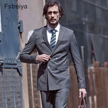 Custom made mens wool suits slim fit tailored double breasted suit with pants for wedding 2 pieces latest coat pant designs tian qiong mens black wool suits latest coat pant designs chinese style stand collar slim fit groom wedding suit formal wear