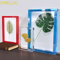 ONELUX Sets Of Acrylic Botanical Specimen Frame With Magnets,Lucite Poster/Photo Frames, Art Print Frames, Frame Only