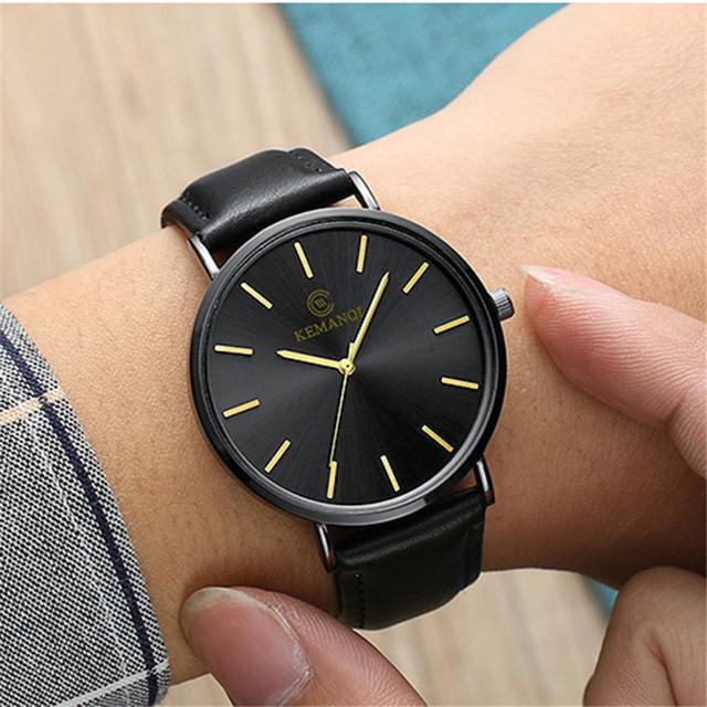 Ultra Thin Watches For Men Relogio Masculino Simple Business Minimalist Wrist Watches Luxury Brand Quartz Wristwatch Male Clock