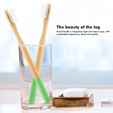 Y&W&F Green Bamboo Wholesale Natural Low-carbon Ecofriendly Soft Bristle Oral Care Cute Soft Bristle Toothbrush Adult Toothbrush