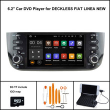 Quad Core Android 7.1 CAR DVD for FIAT LINEA NEW AUTO RADIO GPS SAT NAVI CAPACTIVE SCREEN WIFI/3G+DSP+RDS+16GB flash