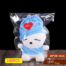 100Pcs Storage Bags Clear Self Adhesive Seal Plastic Packaging Bag Resealable Cellophane OPP Poly Gift