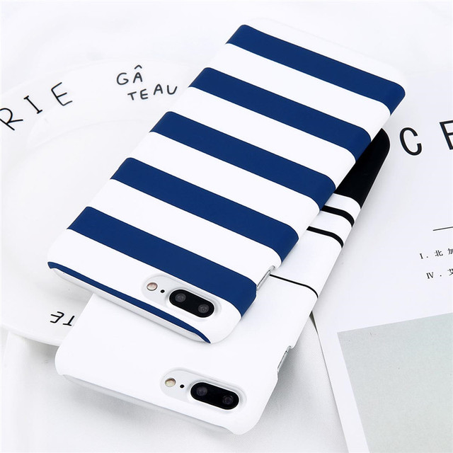 Funda TPU con Diseño de Rayas para iPhone