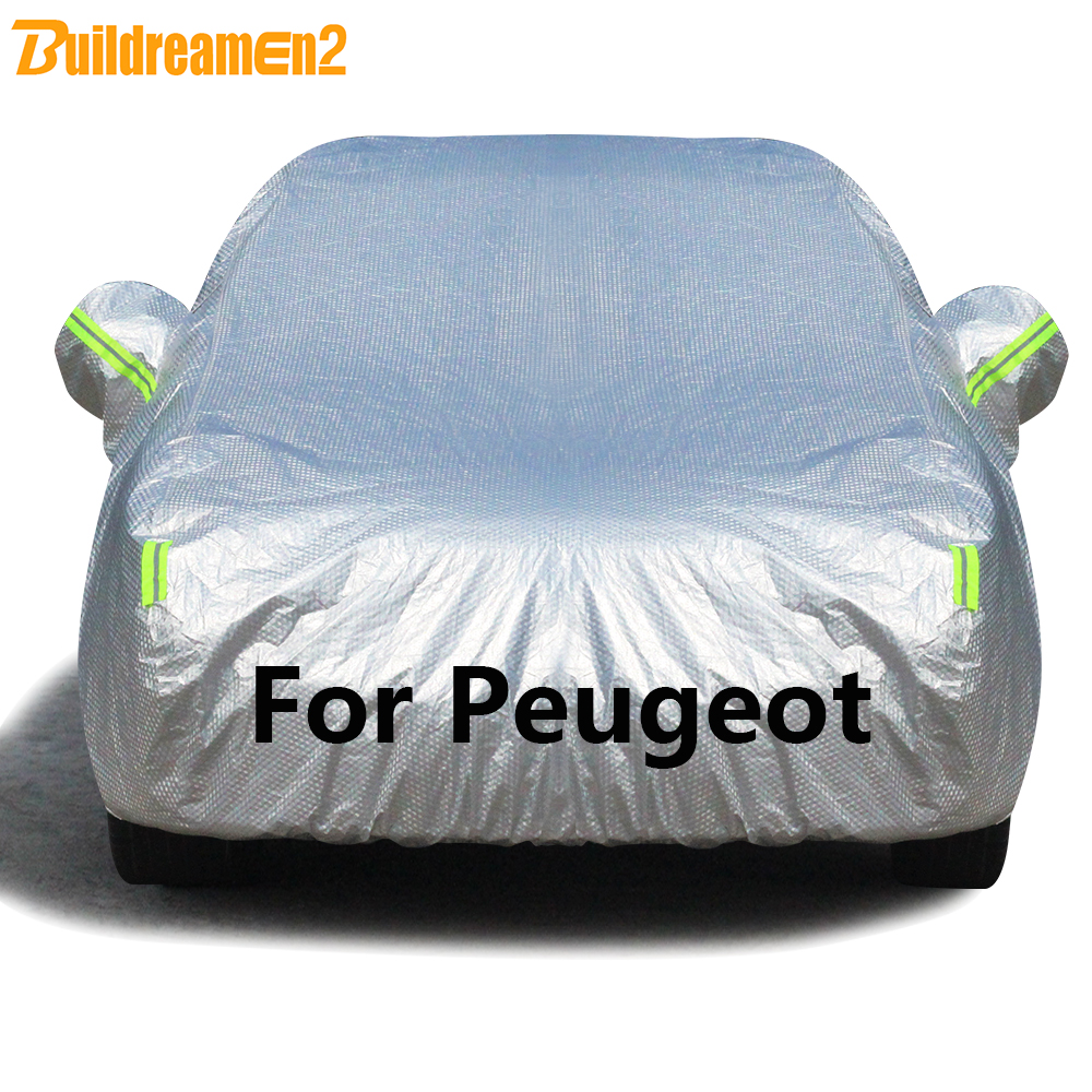 Buildremen2 Thick Car Cover Waterproof Sun Rain Snow Protection Cover For Peugeot 107 206 207 208
