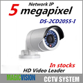 ХИК 5MP Открытый POE Камера DS-2CD2055-I H.265 Ip-камера 1080 P Мультиязычная Версия Пуля Камеры Безопасности 4 мм Объектива