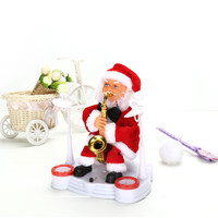 Christmas Electric Dancing Music Santa Claus Doll Xmas Party Baby Kids Gifts Home Decor 25