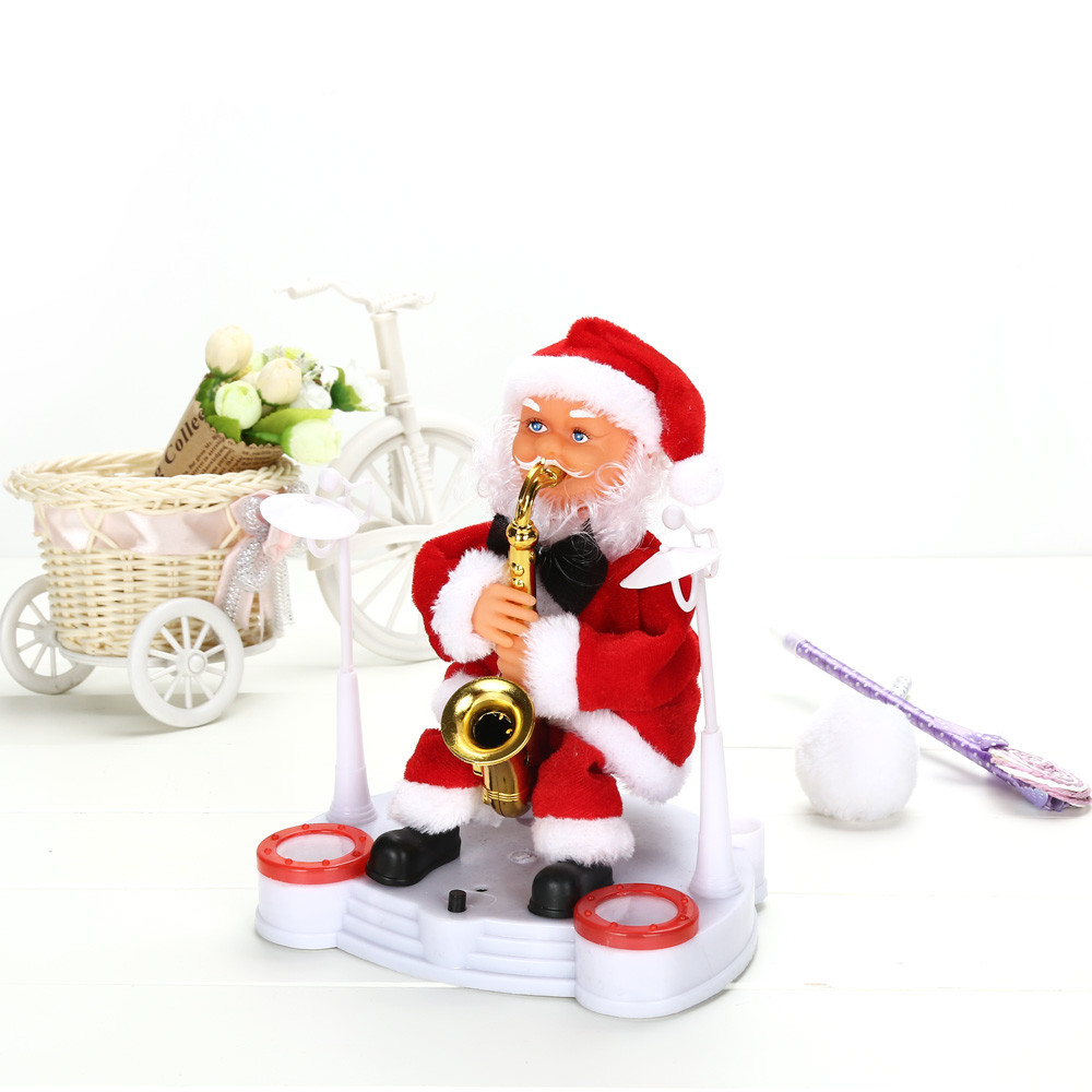 Good Baby Christmas Gifts: Happy Christmas Ornament Electric Dancing Music Santa