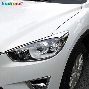 Per Mazda CX-5 CX5 2012 2013 2014 2015 ABS Cromato Anteriore del faro Testa luci Lampada di Protezione Della Lampada Cappuccio Della Copertura Della Pagina trim