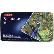 72 pièces/ensemble dergone Inktense 72 crayons etain ensemble crayon Soluble pour peinture rotule