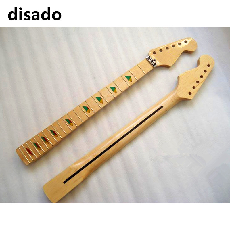 disado 21 22 24 Frets  maple Electric Guitar Neck maple fretboard glossy paint wood color guitar parts accessories two way regulating lever acoustic classical electric guitar neck truss rod adjustment core guitar parts
