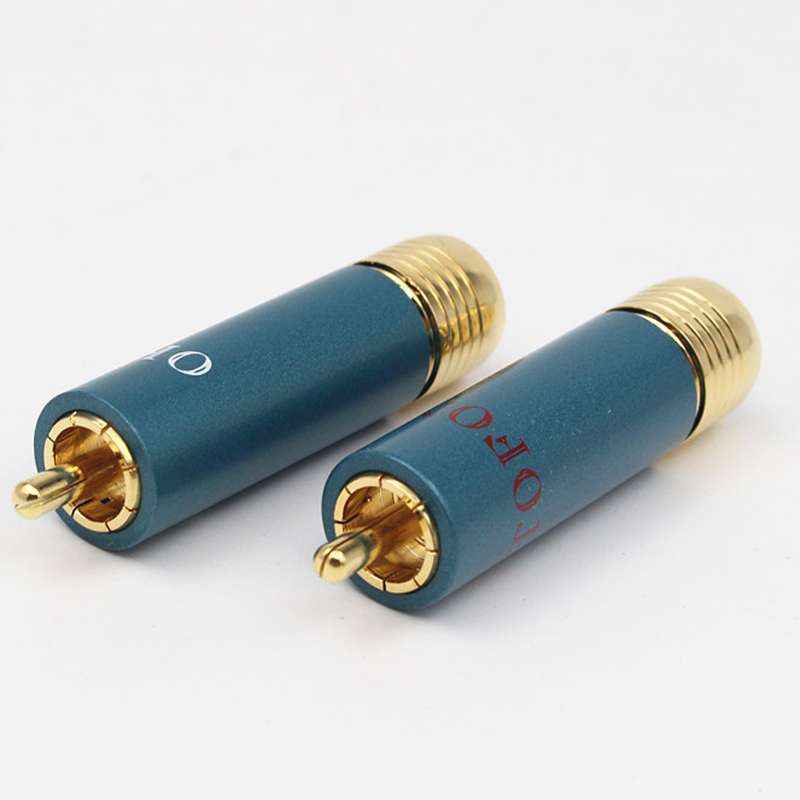 Image 4 - 4pcs/lot Gold plated HIFI RCA Plug Hi end Ortofon Reference 8NX RCA Connectors-in Plug & Connectors from Consumer Electronics