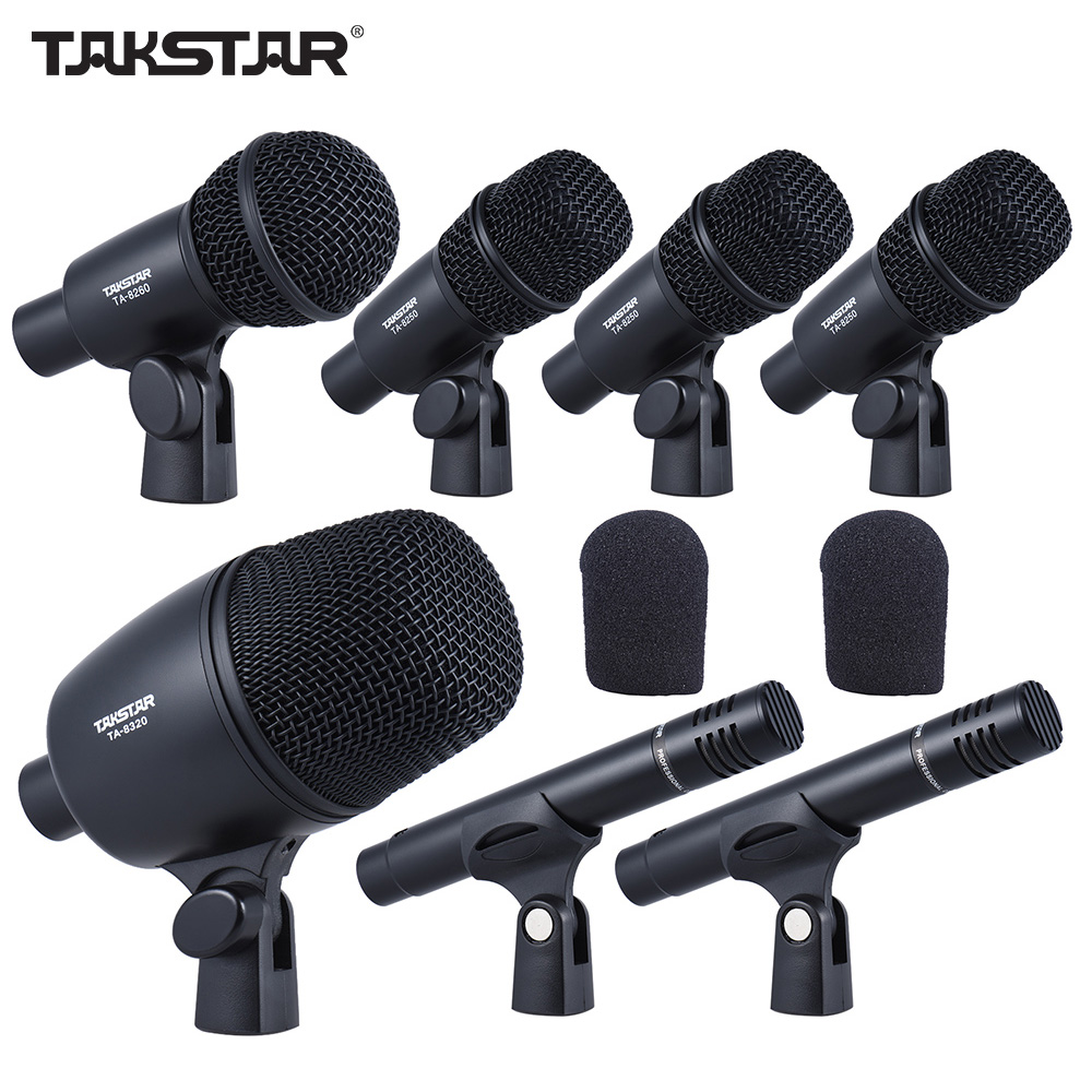 takstar dms 7as professional wired microphone mic kit for drum set musical instruments standard. Black Bedroom Furniture Sets. Home Design Ideas