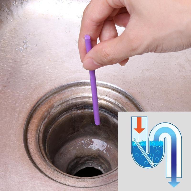 12 / set sáně tyčinky olej dekontaminace kuchyně WC vana odtok drenážní čistička kanalizace čištění tyč pohodlné kanalizace v ... \ t