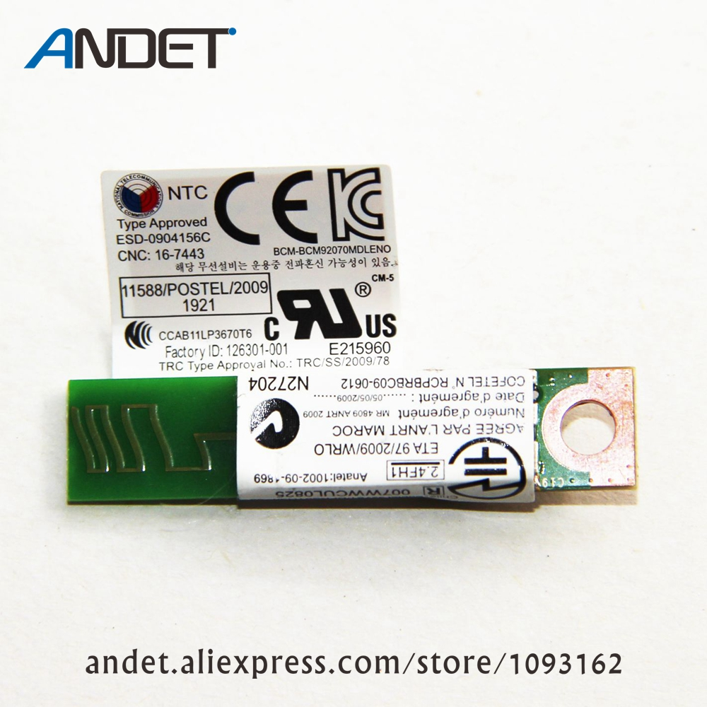 Original 4.0 módulo bluetooth para lenovo thinkpad x230 t430 t430s t530 w530 fru 60y3303 60y3305