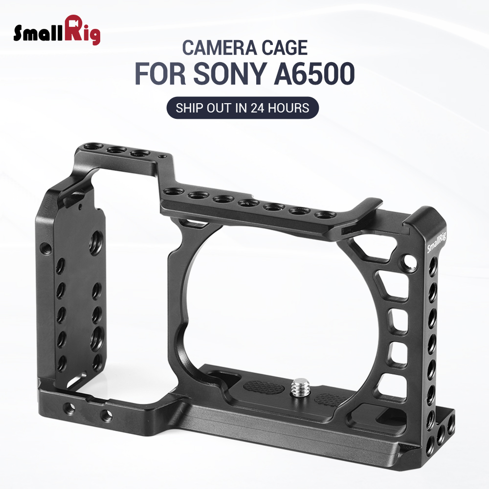 SmallRig Dslr Camera Rig Cage for Sony A6500 /A6300 Camera Aluminum Alloy Cage W/ Arca Swiss QR plate ( upgrade version ) - 1889SmallRig Dslr Camera Rig Cage for Sony A6500 /A6300 Camera Aluminum Alloy Cage W/ Arca Swiss QR plate ( upgrade version ) - 1889