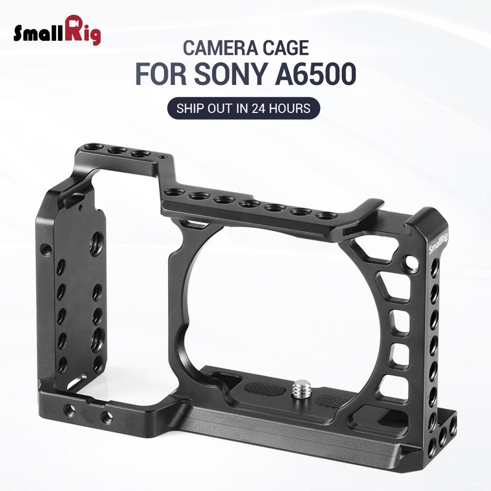 SmallRig Dslr камера Rig клетка для Sony A6500 /A6300 камера из алюминиевого сплава клетка W/ Arca швейцарская QR пластина (обновленная версия) 1889|arca swiss camera plate|camera plateqr plate | АлиЭкспресс
