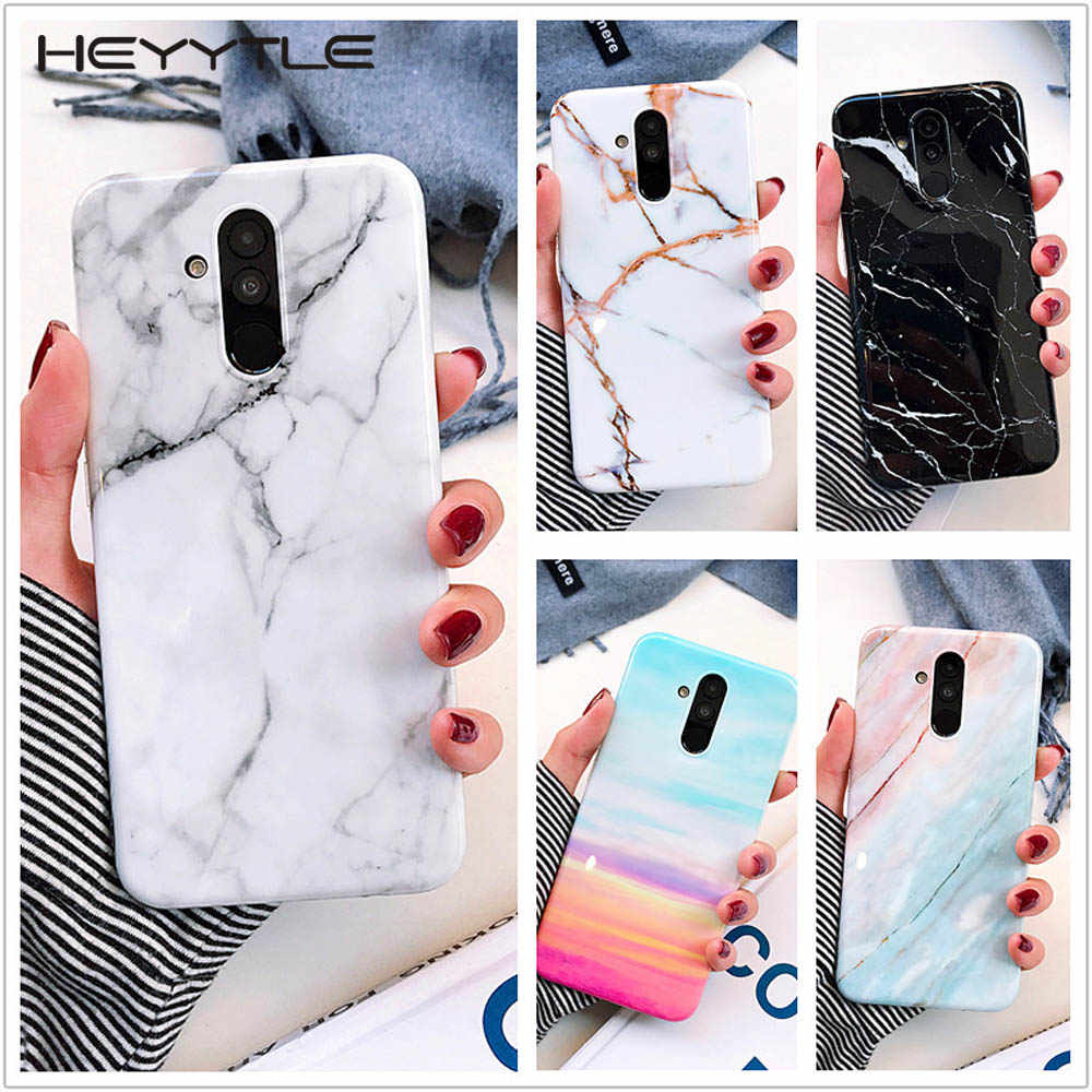 Heyytle New Marble Silicone Case For Huawei Mate 20 Lite P20 P30 Pro Nova 3i 3e Ultra Thin Case Soft TPU Back Cover Fundas Coque
