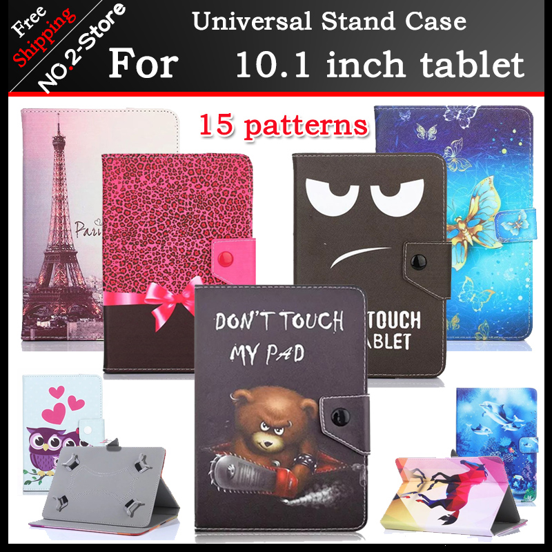 Universal cartoon stand cover case for Digma Optima 1030D 3G /1315 T 4G TT1108ML 10.1inch Tablet 15 kinds of patterns+3 gift digma optima 10 4 3g