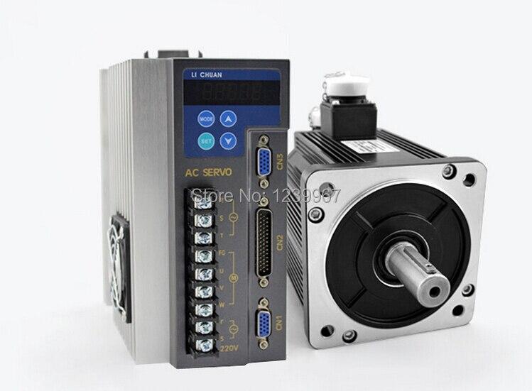 130mm 1kw 1000rpm ac servo motor drive kit 10nm 3 phase for Ac servo motor drive