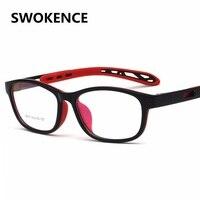 Regulowane Szklane Ramki TR90 SWOKENCE Marki Wysokiej Jakości Okularów Ramki Dla Chłopców I Dziewcząt Krótkowzroczny lub Dalekowzroczności Starczej Okulary F163