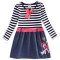 Novatx детские платья девушки с длинным рукавом девушка модная одежда весна осень дети платья для девочек рождество H5320