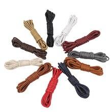 USHINE 70-160cm Round Waxed Colorful Shoelaces Elastic Shoelaces Boot Shoelaces Cord