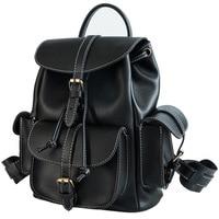 Women Multifunction Backpack For Girls Drawstring Bookbag Bag School Bagpack For Teenage Girl Black Ladies Pu Leather Backpacks