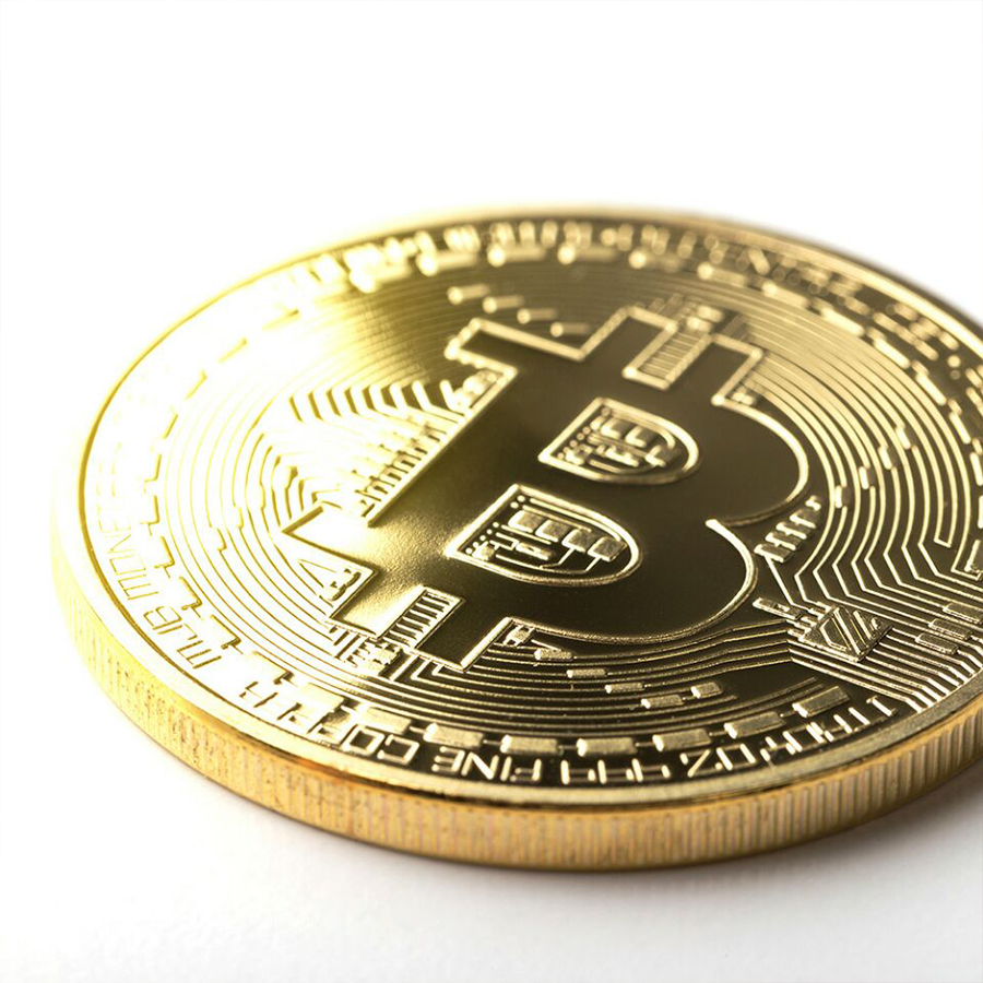 Bitcoin Physical Gold Plated Coin