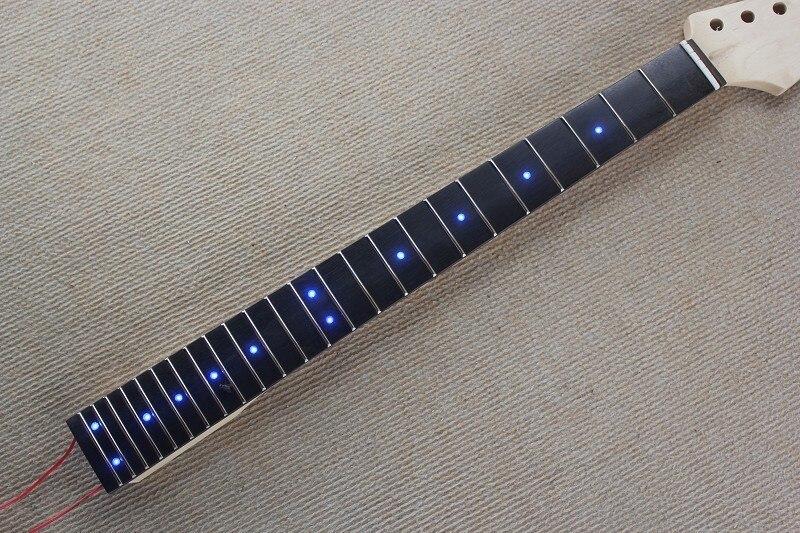 Incrustaciones de puntos LED Diapasón de Palisandro arce Cuello de la Guitarra E