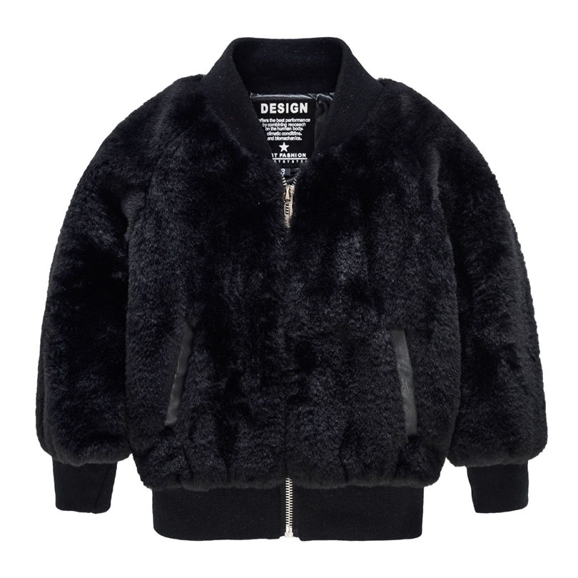 Faux Fur Jackets For Girls Autumn Winter Coats Children Girls Cardigan Children Clothes Casual Long Jacket Coats Girl ZFY151 girls faux fur coats little girl pink jacket with fur o neck children s faux fox fur clothes long sleeve soft fur winter coats